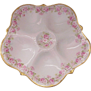 Elite (Bawo & Dotter Co.) Limoges Rose Pattern Oyster Plate - Circa 1910