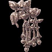 Cini Hand Crafted Sterling Fushia Brooch / Pin - Circa 1950