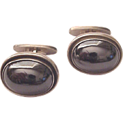 Georg Jensen Sterling and Hematite Cuff Links Cufflinks # 44A - Circa 1965