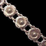 Georg Jensen Sterling Floral Bracelet # 36 - Circa 1934-44