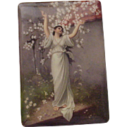 Ernst Wahliss Hand Painted Porcelain Plaque - Circa 1900