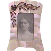 Victorian Mother of Pearl and Bohemian Garnet Photo Frame - Circa 1900