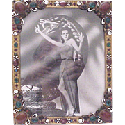 Austrian Faux Jeweled and Enamel Accent Photo Frame - Circa 1925