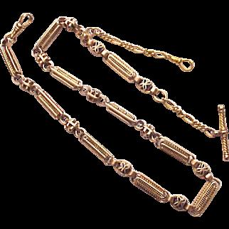 Victorian 14Kt. Gold Man's Watch Chain - Circa 1875