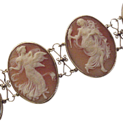 14Kt. Gold and Shell Cameo Bracelet - Circa 1910