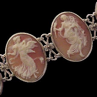 14Kt. Gold and Shell Cameo Bracelet - Circa 1910