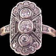 European 14kt. Gold and Platinum Diamond Ring - Circa 1910