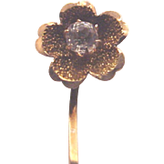 10 Kt. Rose Gold and Sapphire Stick Pin of a Flower - Circa 1880