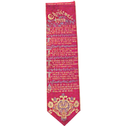 "Stevengraph Silk Bookmark ""Christmas Hymn"""