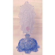 All Faceted Blue Czech Perfume Bottle - Circa 1930