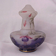 Daum Nancy Enameled Cameo Glass Perfume Burner - Circa 1910