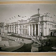 1893 World's Columbian Exposition Agricultural Building From the Colonnade by W.H. Jackson