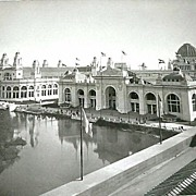 1893 World's Columbian Exposition Mining and Electricity Buildings From Transportation Building By W.H. Jackson