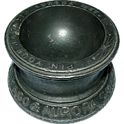 1893 Columbian Exhibition Souvenir Cast Iron Chicago & Aurora Smelting & Refining Co. Pin Tray
