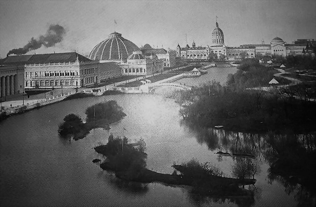 1893 World's Columbian Exposition North Lagoon, From Mining Building by W.H. Jackson