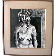 Black & White Nude Torso Silk Screen signed Dutton