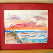 Florida Seascape Watercolor by Mary Johnson