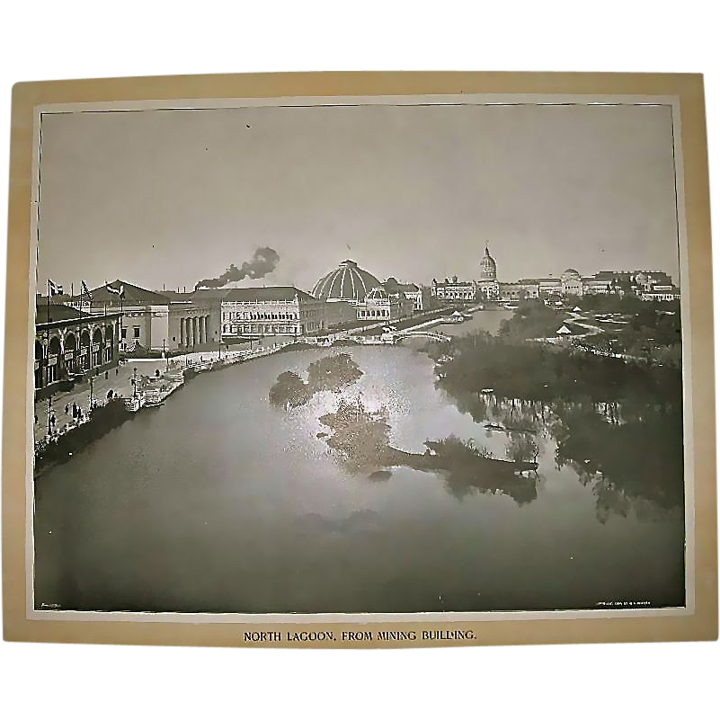 1893 World's Colombian Exposition North Lagoon from Mining Building by William Henry Jackson