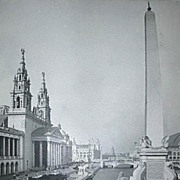 1893 World's Colombian Exposition The Obelisk And Grand Vista North From Colonnade by W.H. Jackson
