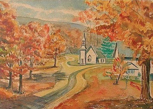 Listed American W. Earl Rowland Landscape Watercolor