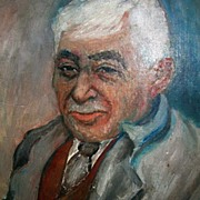 Oil Portrait of a Man by British Artist Elva Joan Blacker