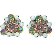 Vintage Signed Eugene Rhinestone Earrings