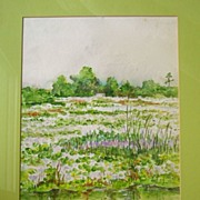 Swampland on Route 60, Florida Watercolor by I Brinkerhoff