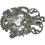 Art Nouveau Codding Bros. & Heilbron Sterling Silver Belt Buckle