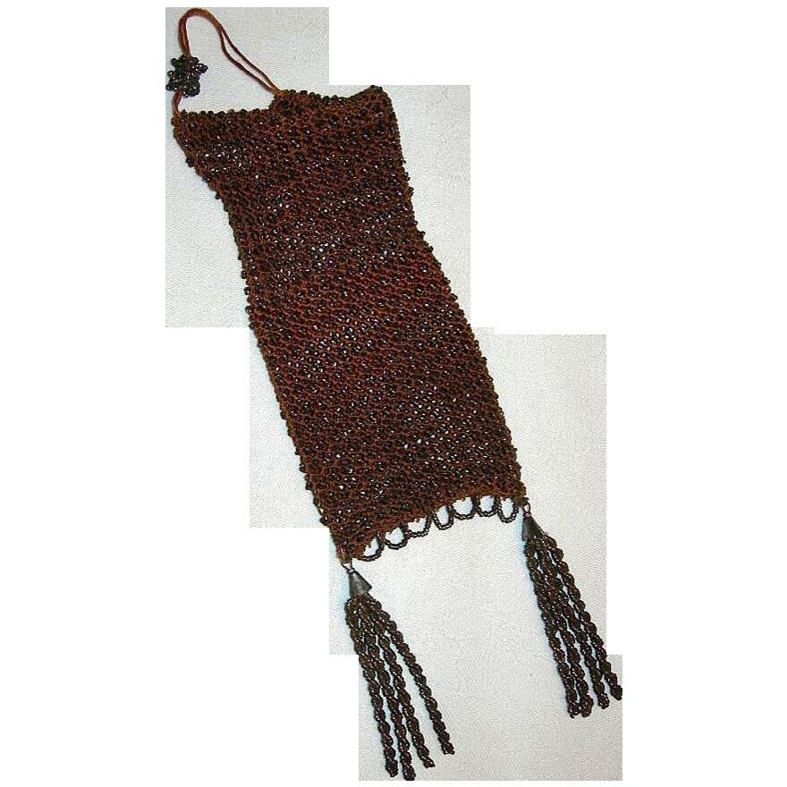Roaring 20's Silk Crochet & Steel Bead Flapper Bag