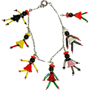 Vintage Souvenir Glass Beads Bracelet