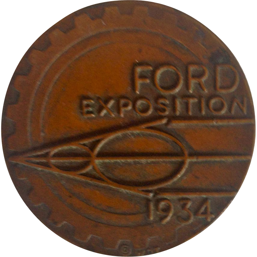 1934 Ford Exposition A Century of Progress Chicago Coin or Token