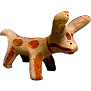Vintage Mexican Folk Art Clay Cow or Burro