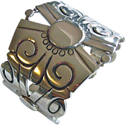 William Spratling Four Winds Sterling Silver Cuff Bracelet