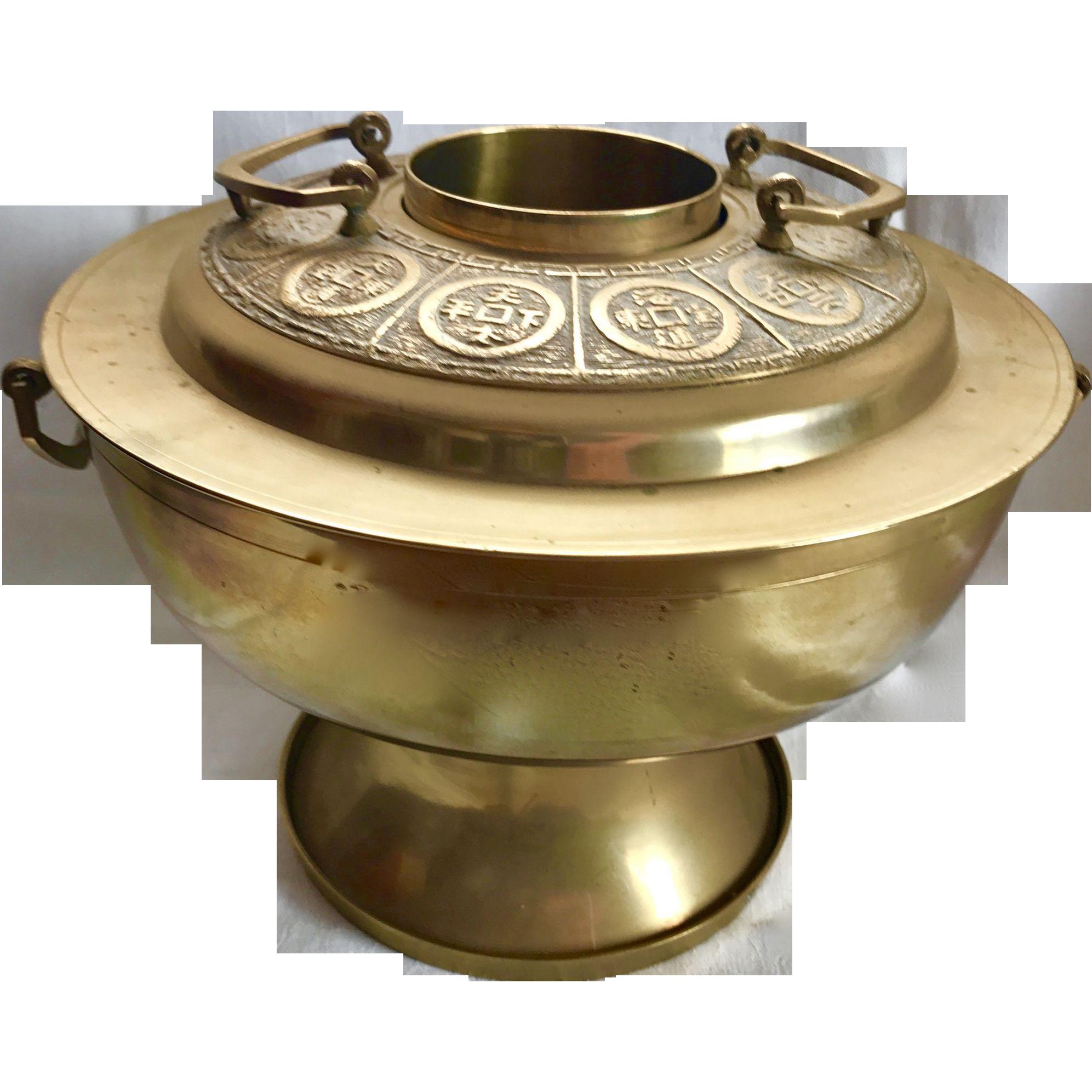 Vintage Korean Brass Rice Steamer
