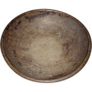 Primitive Turned Wooden Bowl - c. 1890s