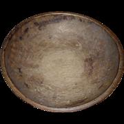 Primitive Turned Wooden Bowl - c. 1890s