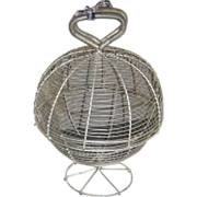 c. 1900 Wireware Salad Washer / Dryer - Egg Basket