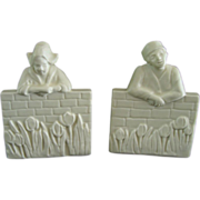 Rookwood Pottery Bookends Dutch Boy  Girl Circa  1929 - Red Tag Sale Item
