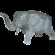 Vintage Elephant Candy Dish Indiana Glass Dunlavy Glass
