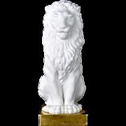 Vintage Porcelain Lion on a Gilt Base Mottahedeh Italy