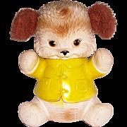Vintage Rubber Squeak Toy Bear Fuzzy Ears Edward Mobley Co. Arrow Rubber 1960s