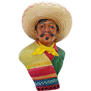 Vintage Bossons Mexican Rare Chalkware Bust 1959