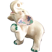 Vintage Kay Finch RARE Peanut Elephant Ceramic Figure 1950s California Pottery