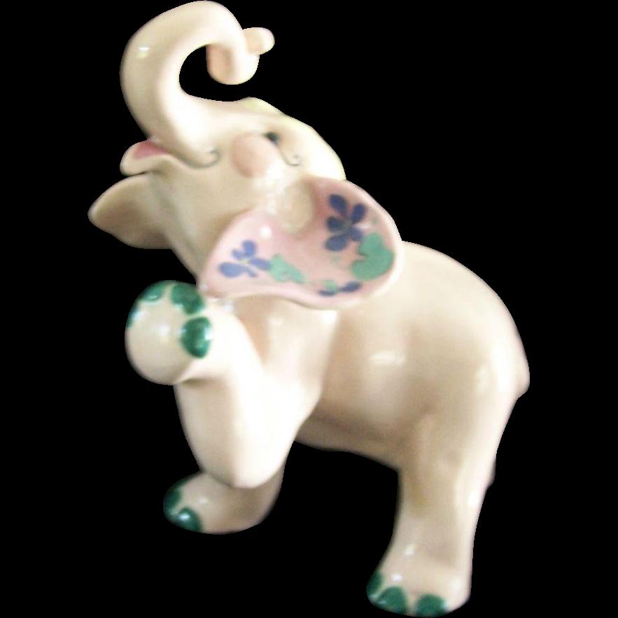 Vintage Kay Finch Rare Peanut Elephant Ceramic Figure