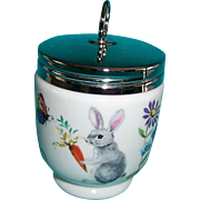 Royal Worcester Double Egg Coddler Skippety Tale Rabbit Butterfly Mice Bee