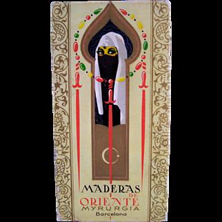 Vintage Myrurgia Maderas de Oriente Box of Perfumed Soap