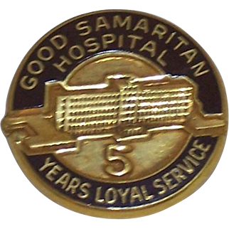 Vintage Nursing Employee Service Award Pin Good Samaritan Hospital 5 Year
