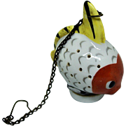 Vintage Porcelain Tea Infuser Figural Fish Germany