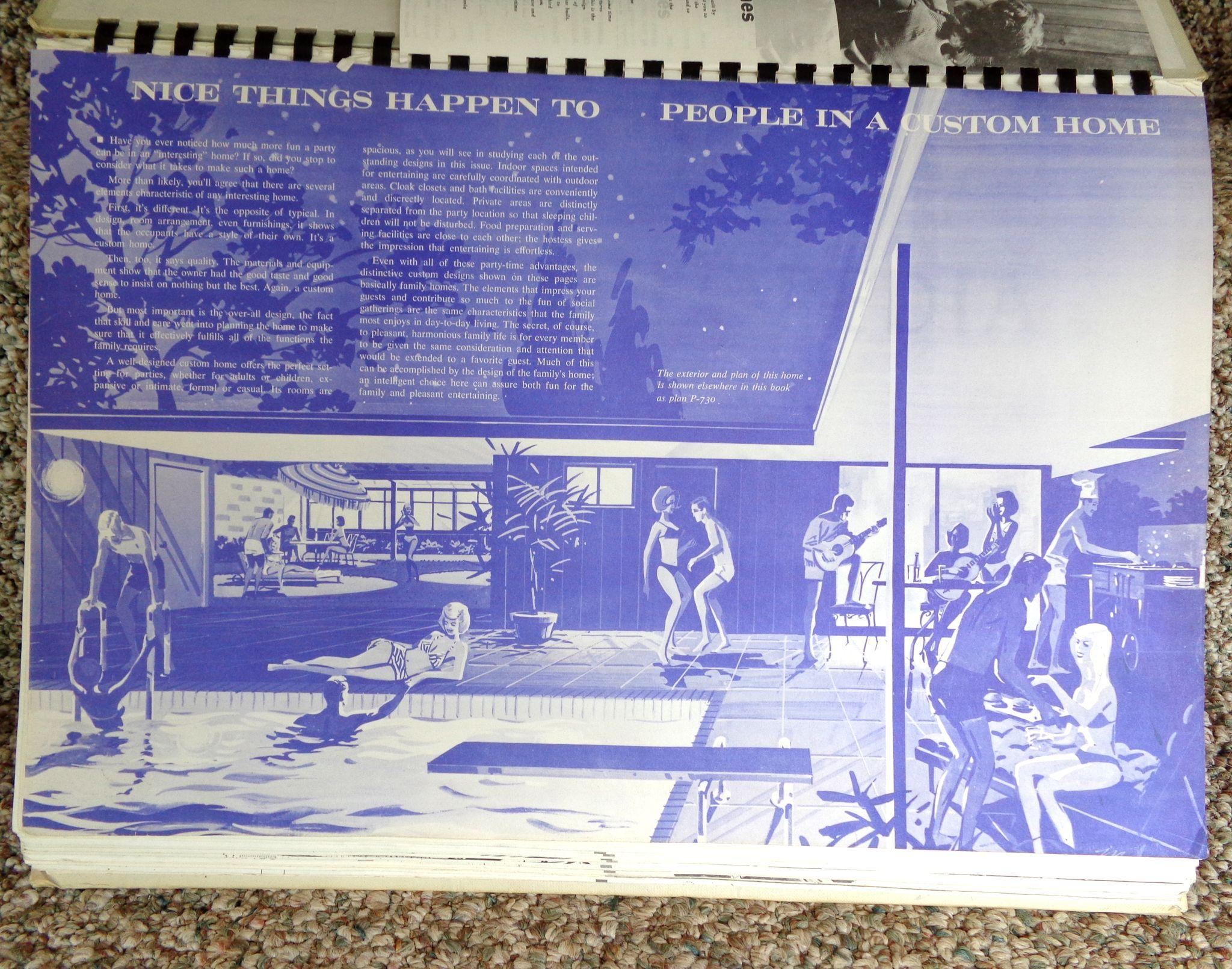 Mid century 1971 72 encyclopedia of home designs book from for Encyclopedia of home designs
