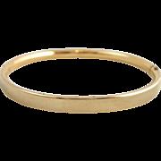 Vintage BALLOU 12K Gold Filled Baby Bangle Bracelet Engravable